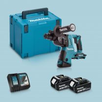 Toptopdeal-Makita DHR263ZJ 36V SDS+ Hammer Drill & 2 x 3 Ah Battery Charger In Case