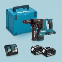 Toptopdeal-Makita DHR264ZJ 36V SDS+ Hammer Drill & 2 x 5 Ah Battery Charger In Case