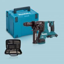 Toptopdeal Makita DHR264ZJ 36V SDS+ Rotary Hammer Case & Excel 17pcs Accessories Set