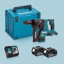 Toptopdeal-Makita DHR280ZJ 36V BL SDS+ Hammer Drill & 2 x 3 Ah Battery Charger in Case