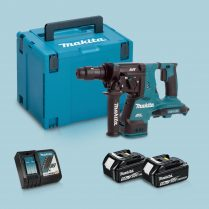 Toptopdeal-Makita DHR280ZJ 36V BL SDS+ Hammer Drill & 2 x 5 Ah Battery Charger in Case