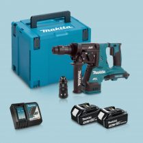 Toptopdeal-Makita DHR281ZJ 36V BL SDS+ Hammer Drill & 2 x 3 Ah Battery Charger In Case