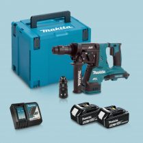Toptopdeal-Makita DHR281ZJ 36V BL SDS+ Hammer Drill & 2 x 5 Ah Battery Charger In Case