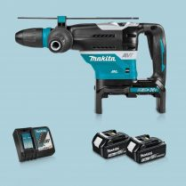 Toptopdeal-Makita DHR400ZKU 36V BL SDS-Max H Drill & 2 x 3 Ah Battery Charger In Case