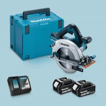 Toptopdeal Makita DHS710ZJ 36V 190mm Circular Saw 2 x 5 Ah Battery Charger In Case