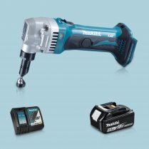 Toptopdeal-Makita DJN161Z 18V LXT Li Cordless 1 6mm Nibbler & 1 x 5 Ah Battery Charger
