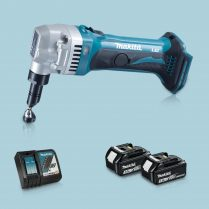 Toptopdeal-Makita DJN161Z 18V LXT Li Cordless 1 6mm Nibbler & 2 x 3 Ah Battery Charger