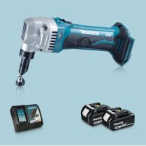Toptopdeal-Makita DJN161Z 18V LXT Li Cordless 1 6mm Nibbler & 2 x 5 Ah Battery Charger