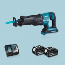 Toptopdeal-Makita DJR360ZK 36V BL Reciprocating Saw & 2 x 3 Ah Battery Charger In Case