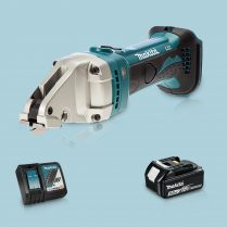 Toptopdeal-Makita DJS161Z 18V LXT Cordless Straight Shear & 1 x 5 Ah Battery Charger