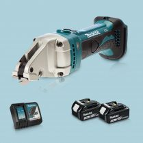 Toptopdeal-Makita DJS161Z 18V LXT Cordless Straight Shear & 2 x 3 Ah Battery Charger
