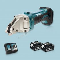 Toptopdeal-Makita DJS161Z 18V LXT Cordless Straight Shear & 2 x 5 Ah Battery Charger