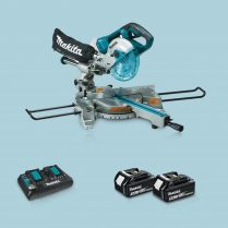 Toptopdeal Makita DLS714NZ 36V BL 190mm Slide Mitre Saw & 2 x5Ah Battery+ Twin Charger