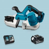 Toptopdeal-Makita DPB182Z 18V LXT Li-Ion Cordless Band Saw & 1 x 3 Ah Battery Charger