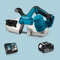 Toptopdeal-Makita DPB182Z 18V LXT Li-Ion Cordless Band Saw & 1 x 5 Ah Battery Charger
