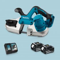 Toptopdeal-Makita DPB182Z 18V LXT Li-Ion Cordless Band Saw & 2 x 5 Ah Battery Charger