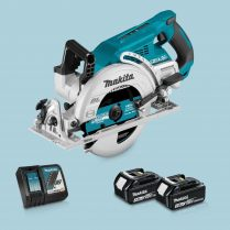 Toptopdeal Makita DRS780Z 36V LXT BL 185mm Circular Saw & 2 x 3 Ah Battery Charger