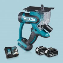 Toptopdeal-Makita DSD180Z 18V LXT Cordless Drywall Cutter & 2 x 3 Ah Battery Charger