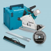 Toptopdeal Makita DSP600ZJ 36V 165mm BL Plunge Saw In Case 1x1 5m Guide Rail+Bag+Blade