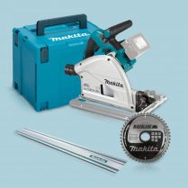 Toptopdeal Makita DSP600ZJ 36V 165mm Plunge Saw In Case 1 5m Guide Rail 48T Blade