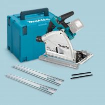 Toptopdeal Makita DSP600ZJ 36V 18V Brushless Plunge Saw & 2 x Guide Rails + Connector