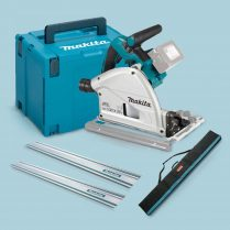 Toptopdeal Makita DSP600ZJ 36V BL 165mm Plunge Saw + 2x1 5m Guide Rail+ Case+ Rail Bag