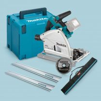 Toptopdeal Makita DSP600ZJ 36V BL 165mm Plunge Saw+2x1 5m Guide Rail Case+Bag+Blade