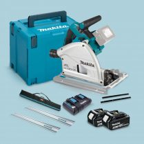 Toptopdeal Makita DSP600ZJ 36V BL Plunge Saw 2 x 5Ah Battery & Charger Accessories