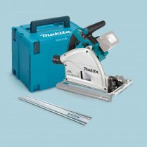 Toptopdeal Makita DSP600ZJ Twin 18v Lxt Brushless 165mm Plunge Saw 1 5mm Guide Rail