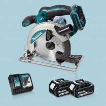 Toptopdeal Makita DSS610Z 18V LXT Li Circular Saw 165mm & 2 x 5.Ah Battery Charger