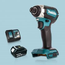 Toptopdeal Makita DTD153Z 18V LXT Cordless BL Impact Driver & 1 x 3Ah Battery Charger