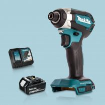 Toptopdeal Makita DTD153Z 18V LXT Cordless BL Impact Driver & 1 x 5Ah Battery Charger