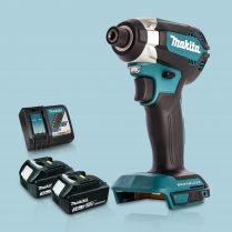 Toptopdeal Makita DTD153Z 18V LXT Cordless BL Impact Driver & 2 x 3Ah Battery Charger