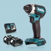 Toptopdeal Makita DTD153Z 18V LXT Cordless BL Impact Driver & 2 x 5Ah Battery Charger