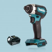 Toptopdeal Makita DTD153Z 18V LXT Cordless Brushless Impact Driver & 1 x 3 Ah Battery