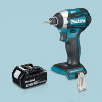 Toptopdeal Makita DTD154Z 18V Li Cordless Brushless Impact Driver & 1 x 3 Ah Battery