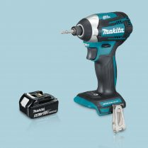 Toptopdeal Makita DTD154Z 18V Li Cordless Brushless Impact Driver & 1 x 5 Ah Battery