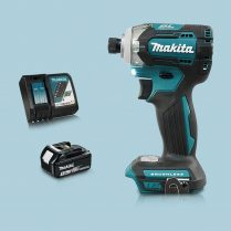 Toptopdeal-Makita DTD170Z 18V LXT Cordless BL Impact Driver & 1 x 3Ah Battery Charger
