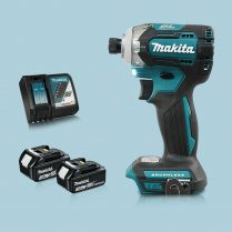 Toptopdeal Makita DTD170Z 18V LXT Cordless BL Impact Driver 2 x 3Ah Battery Charger