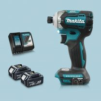 Toptopdeal Makita DTD170Z 18V LXT Cordless BL Impact Driver & 2 x 5Ah Battery Charger