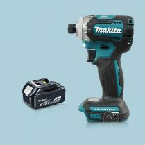Toptopdeal Makita DTD170Z 18V LXT Cordless Brushless Impact Driver 1 x 5 Ah Battery