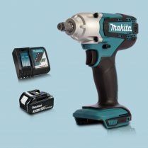 Toptopdeal Makita DTW190Z 18V LXT 1 2″ Square Impact Wrench & 1 x 3Ah Battery Charger