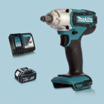 Toptopdeal Makita DTW190Z 18V LXT 1-2″ Square Impact Wrench & 1 x 5Ah Battery Charger