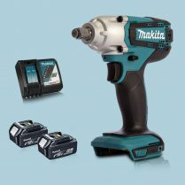 Toptopdeal Makita DTW190Z 18V LXT 1 2″ Square Impact Wrench & 2 x 5Ah Battery Charger