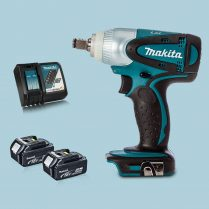 Toptopdeal Makita DTW251Z 18V LXT 12″ Impact Wrench Drive & 2 x 5.0Ah Battery Charger