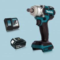 Toptopdeal Makita DTW285Z 18V LXT BL 1 2″ Impact Wrench & 1 x 3 Ah Battery Charger