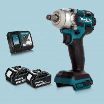 Toptopdeal Makita DTW285Z 18V LXT BL 1 2″ Impact Wrench & 2 x 3 Ah Battery Charger