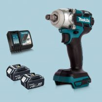 Toptopdeal Makita DTW285Z 18V LXT BL 1 2 Impact Wrench & 2 x 5 Ah Battery Charger