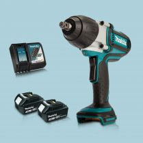 Toptopdeal Makita DTW450Z 18V LXT 1-2″ Torque Impact Wrench & 2 x 3.Ah Battery Charger