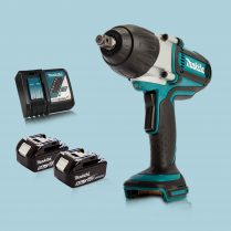 Toptopdeal Makita DTW450Z 18V LXT 12″ Torque Impact Wrench & 2 x 5.Ah Battery Charger